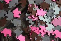 200 Elephant Confetti/Die Cut/Cutout/Scrapbooking/Birthday Birthday Party Decorations, Baby Shower Decorations, Elephant Birthday, Birthday Scrapbook, Dessert Table, Confetti, Make It Simple, Card Stock, Scrapbooking