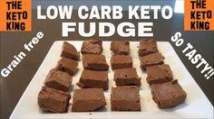 Low Carb Fudge │Keto Fudge │Only 5 Ingredients! ǀ Grain Free & Gluten Fr...