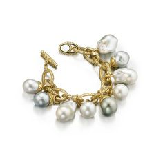 Perfect imperfection with baroque pearls at the Couture Show Las Vegas pearls in gold