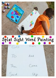 Such a fun way to practice sight words!