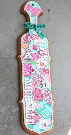 paddle power ~ pretty flowers & lyres for AXO!
