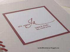 made with love by kme: Wenn der (kleine) Bruder heiratet .... #11