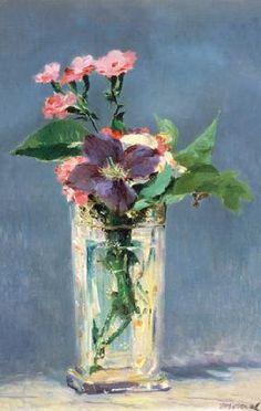 Edouard Manet - Klematis in einer Kristallvase