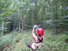Zipline at Hocking Hills Canopy Tours - great place - we had a blast!  Can't wait to do it again