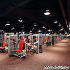 Neoflex 500 Series Fitness Flooring under the pinload/selectorized equipment at one of Taiwan's largest fitness chains, Fitness Factory.