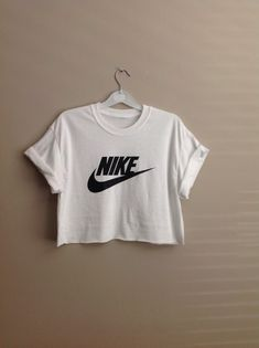 48c67e21030a0 Old school Nike swoosh crop top perfect teamed with denim cut offs great  for the summer