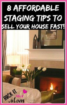 8 Affordable Staging Tips To Sell Your House Fast! We used these strategies and sold our house on the second showing!~ http://RockItLikeAMom.com  >>http://rockitlikeamom.com/8-affordable-staging-tips-to-sell-your-house-fast/