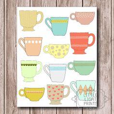 ON SALE Coffee Mug / Tea Cup Print by LittleLightPrints on Etsy