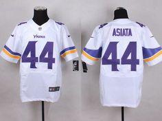 Men's Minnesota Vikings #44 Matt Asiata 2013 Nike White Elite Jersey