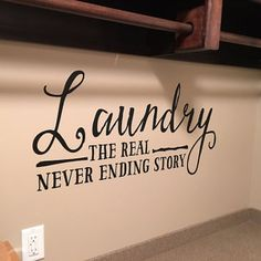 Randy Bowden added a photo of their purchase Vinyl Wall Quotes, Sign Quotes, Vinyl Wall Decals, Etsy App, Vinyl Lettering, Sweet Home, Room Decor, Laundry Rooms, Vinyls