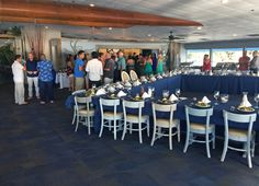 A lovely celebration - Jessica & Eddie's Rehearsal Dinner (Oct 22, 2015). Guests were transported back and forth from the Bradenton Pier to The Seafood Shack on The Island Pearl for a delicious sunset buffet dinner.