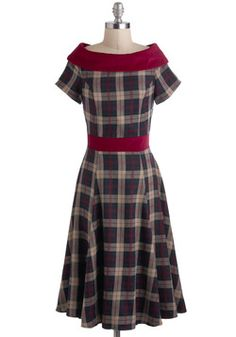 Keepin' It Old Cool Dress, #ModCloth. Up to a 4x. This is incredibly adorable! My mom used to wear stuff like this when I was a teenager. :) She had a series of dresses she called her Lucy Wardrobe-- after Lucille Ball. Must be where I got my love of retro.