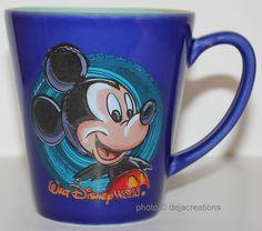 Walt Disney World Mickey Mouse Cup Mug Souvenir Thailand Coffee Tea Blue   eBay
