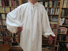 Making a 17th century shirt, part 4- The finished shirt