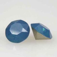 Eureka Crystal Beads - 1088 8mm(SS39) Chaton CARRIBEAN BLUE OPAL Swarovski Crystal Stones (6 pcs), $2.60 (http://www.eurekacrystalbeads.com/1088-8mm-ss39-chaton-carribean-blue-opal-swarovski-crystal-stones-6-pcs/)