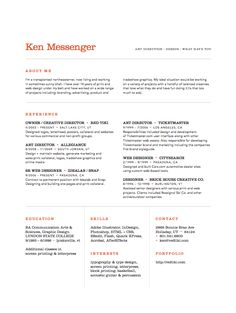 Resume of James Young, creative director from CV Parade | Graphic ...