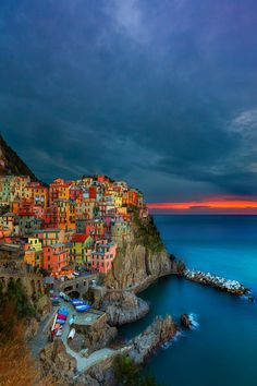Cinque Terre ~ consists of five small villages which cling to the Liqurian cliffs along Italy's western coast.