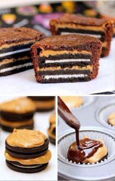 Fan d'Oreo? On parie que vous salivez devant ces #cupcakes! ;)  #gourmandise #chocolat #miam