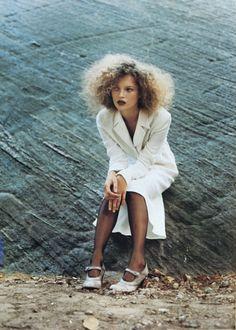 Vogue US December 1994Romantic RevivalKate Moss by Juergen Teller.