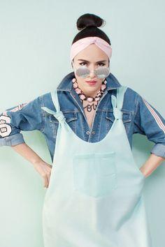 สตรีทแฟชั่น เอี๊ยมหมี สีเขียวมิ้นท์ พาสเทล ทรงฮาเร็ม :: Street Fashion Outfits & Authentic Vintage [เสื้อผ้าสตรีทแฟชั่่น เดรสวินเทจพรีเมี่ยม]