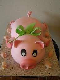 pig birthday cakes - Google Search