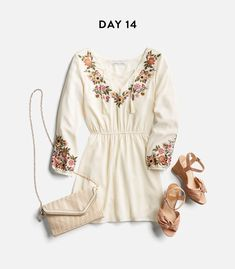 I love this dress.....I have a similar bag already and shoes are cute/nice color; just don't like ankle straps.