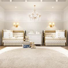 O Quarto de Gêmeos Ursinho Clássico Palha é incrível! Idealizado para ser um quarto de casal de gêmeos, ele traz cores neutras para a decoração, bordados luxuosos e muita fofura com os ursinhos de coroa!