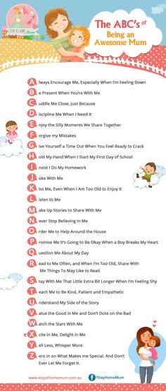 The ABC\'s of Being an Awesome Mum | Stay at Home Mum