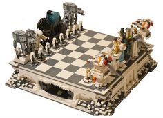 Ajedrez de la batalla de Hoth hecho de LEGO | La Guarida Geek