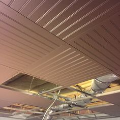Drop Ceiling Decorative Tiles Amazing The Existing Suspended Ceiling In This Space Was Easily Updated Inspiration Design