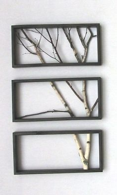 Interior home designer for home frame with tree branches inside it home decorations
