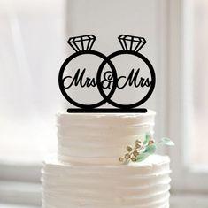 Same sex cake topper weddinglesbian cake toppercustom by Muggses