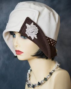 1920's Vintage Style Cloche Flapper Hat Antique by aileens4hats