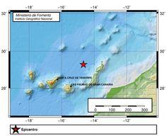 Terremoto Atlántico Canarias 13 noviembre, próximo Lanzarote, Fuerteventura