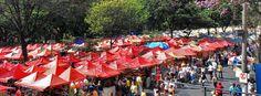 Feira de Artesanato (Feira Hippie) ATRAÇÕES.                                  Localizada entre as ruas Bahia e Guajajaras, a feira acontece todo domingo há mais de 43 anos. Atualmente, conta com cerca de 2,5 mil expositores que vendem as mais diversas mercadorias, como artes, bijuterias, brinquedos, bolsas, roupas, calçados, móveis e objetos de decoração.
