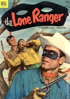 Sub-Genre Lone Ranger. Feature Character(s) The Lone Ranger, Tonto, Silver. This book has a very rich nice hard-to-get in high-grade blue/black painted cover! Comic Book Covers, Comic Book Heroes, Comic Books, Western Comics, Jean Giraud, Old Comics, Vintage Comics, Tarzan, Caricatures
