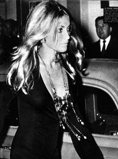 Sharon Tate at the London premiere of Rosemary's Baby