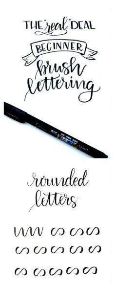 Beginner Brush Lettering: Rounded Letters - One Artsy Mama