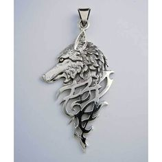 Wolf Necklace Pendant ❤ liked on Polyvore featuring jewelry, pendants, wolf pendant, wolf jewelry, pendant jewelry and charm pendant