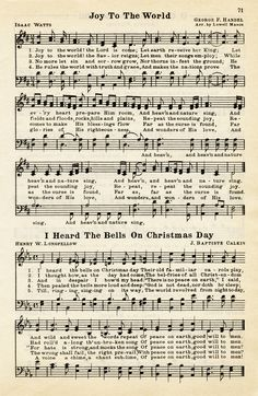 Old Design Shop ~ free digital image: Christmas hymns vintage sheet music