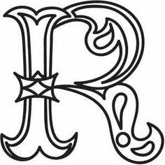 Alfabetos Lindos...R Design Letter