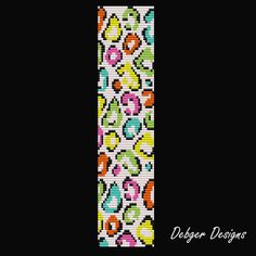 Bead Pattern LoomBracelet CuffColorful Leopard
