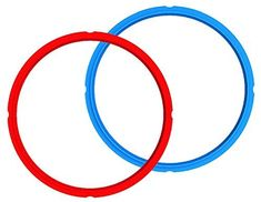 Amazon.com: Genuine Instant Pot Sealing Ring 2-Pack - 6 Quart Red/Blue: Kitchen & Dining