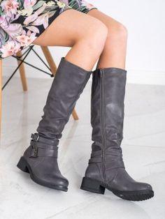 Čižmy z eko kože Riding Boots, Knee Boots, Shoes, Fashion, Horse Riding Boots, Moda, Zapatos, Shoes Outlet, Fashion Styles