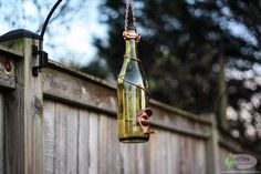 Yellow and Copper Wine Bottle Bird Feeder - Gift for Mom - Outdoor - Patio - Handmade Wine Bottle Decor - Gifts for Women - Father's Day Gift - Dad - Gardening - Wedding Decor - Mother's Day Gift - Crafts- Home Decor - Recycle Wine Bottle Lanterns, Wine Bottle Crafts, Wine Bottles, Glass Hummingbird Feeders, Humming Bird Feeders, Tea Candle Holders, Lantern Set, Deck Decorating, House Gifts