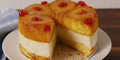A twist on the classic Pineapple Upside Down Cake. A twist on the classic Pineapple Upside Down Cake.,Gluten Free A twist on the classic Pineapple Upside Down Cake. Food Cakes, Cupcake Cakes, Cheesecake Recipes, Dessert Recipes, Personal Cheesecake Recipe, Dinner Recipes, Pineapple Cheesecake, Pinapple Upside Down Cheesecake, Pineapple Desserts