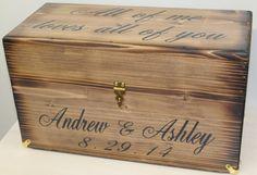 Rustic Wedding Card Wine Box Rustic Keepsake by dlightfuldesigns