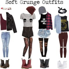 grunge style, grunge look, grunge girl, soft grunge makeup, grunge Soft Grunge Outfits, Punk Outfits, Indie Outfits, Casual Outfits, Grunge School Outfits, Grunge Fashion Soft, Grunge Clothes, Scene Outfits, 5sos Outfits