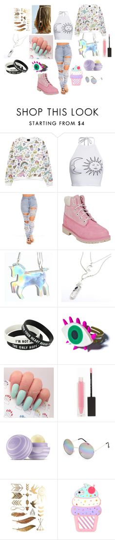 This is so Me , don't you agree !? by danielleraaff on Polyvore featuring moda, Boohoo, Timberland, Wicked Hippie, Full Tilt, MAKE UP STORE and Eos