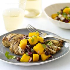 Weight Watchers Grilled Cuban Chicken with Black Bean and Mango Salsa: 7 Points+